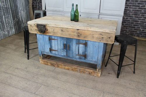 Antiques Atlas Vintage Industrial Kitchen Island Work Bench