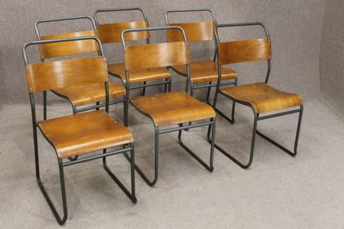 Vintage Metal Stacking Chairs ...