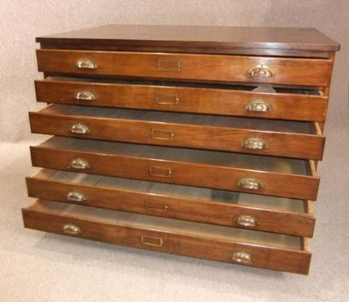 Vintage Plan Chest Map Drawers Antiques Atlas