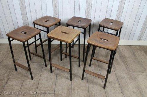 Vintage Retro Industrial School Stools ... - Antiques Atlas - Vintage Retro Industrial School Stools