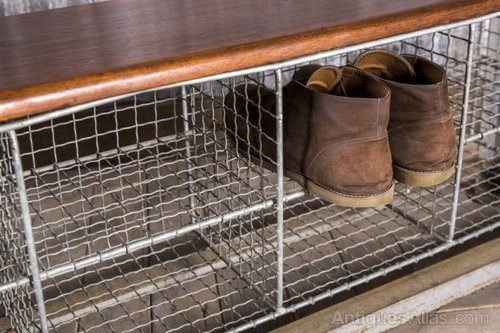Ordinaire Vintage School Benches With Shoe Storage Industrial Cabinets And Lockers Bench  Storage Pe ...