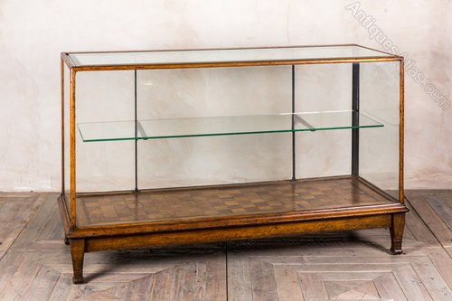 Vintage Shop Display Cabinet With Wooden Frame ... - Vintage Shop Display Cabinet With Wooden Frame - Antiques Atlas