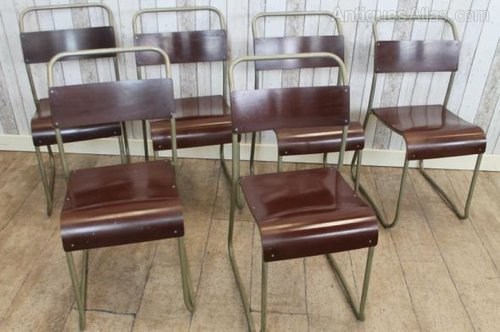 Merveilleux Vintage Stackable Chairs Metal Stacking School