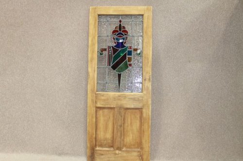 Antiques Atlas Vintage Stained Glass Door