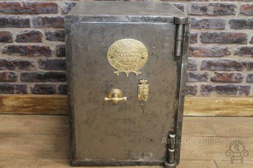 Antiques Atlas - Vintage Style Burnished Steel Antique Safe