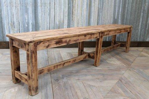 Vintage Wooden Bench Worn Farmhouse Bench Antiques Atlas