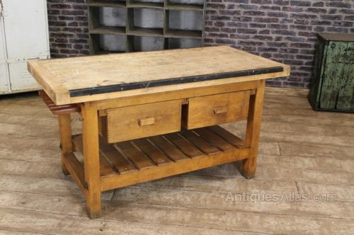 work table kitchen island antiques atlas vintage kitchen island work bench table 1655