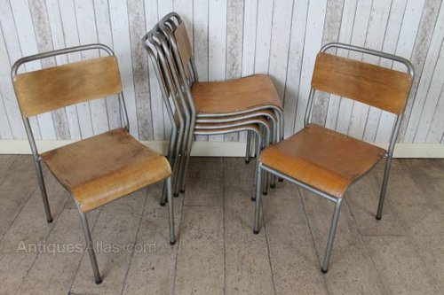 Vintage Stacking School Chairs Vintage Schools Chairs (Post 1940s) ... - Antiques Atlas - Vintage Stacking School Chairs