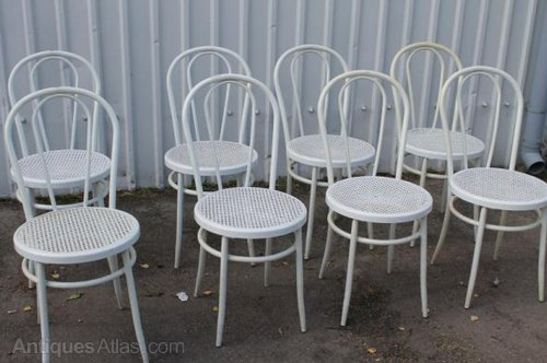White Bentwood Chairs Restaurant Cafe Chairs ...