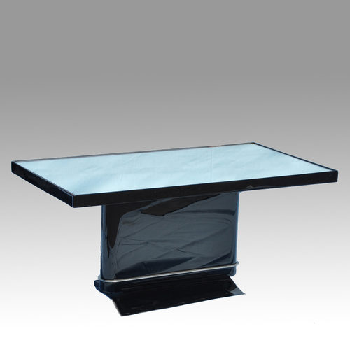 Black Lacquer Mirrored Coffee Table
