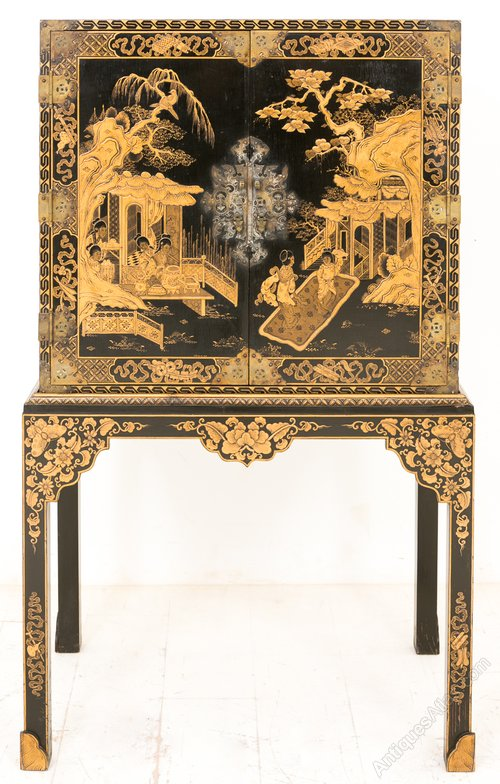 Chinoiserie 2 Door Cabinet On Stand Antiques Atlas