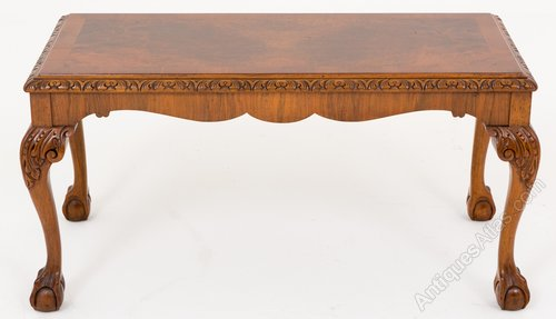 Interesting Walnut Queen Anne Style Coffee Table Antiques Atlas