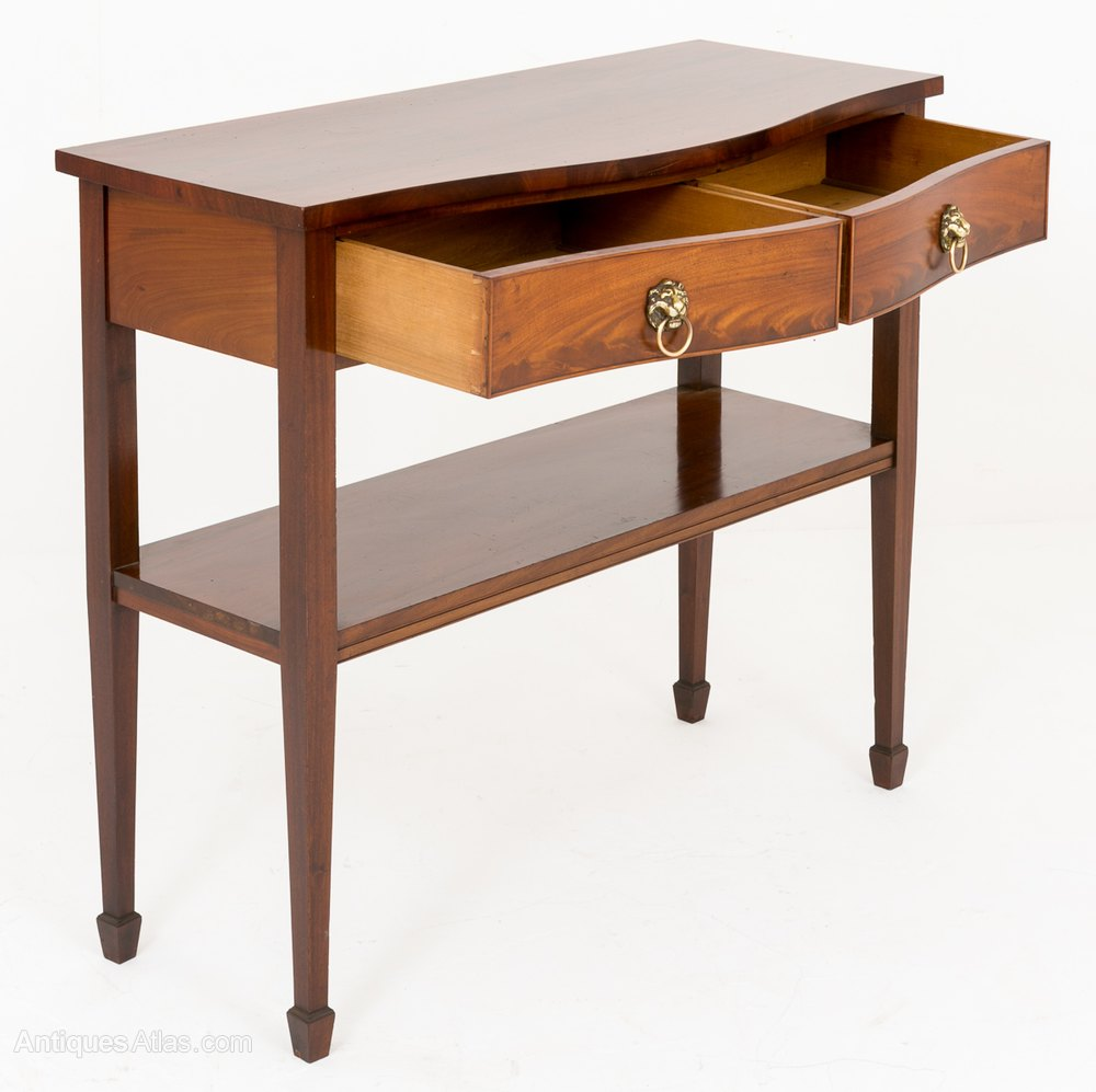 Mahogany drawer console table antiques atlas