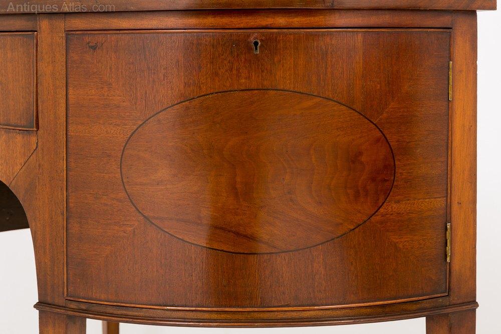Mahogany Georgian Style Demi Lune Sideboard  Antiques Atlas