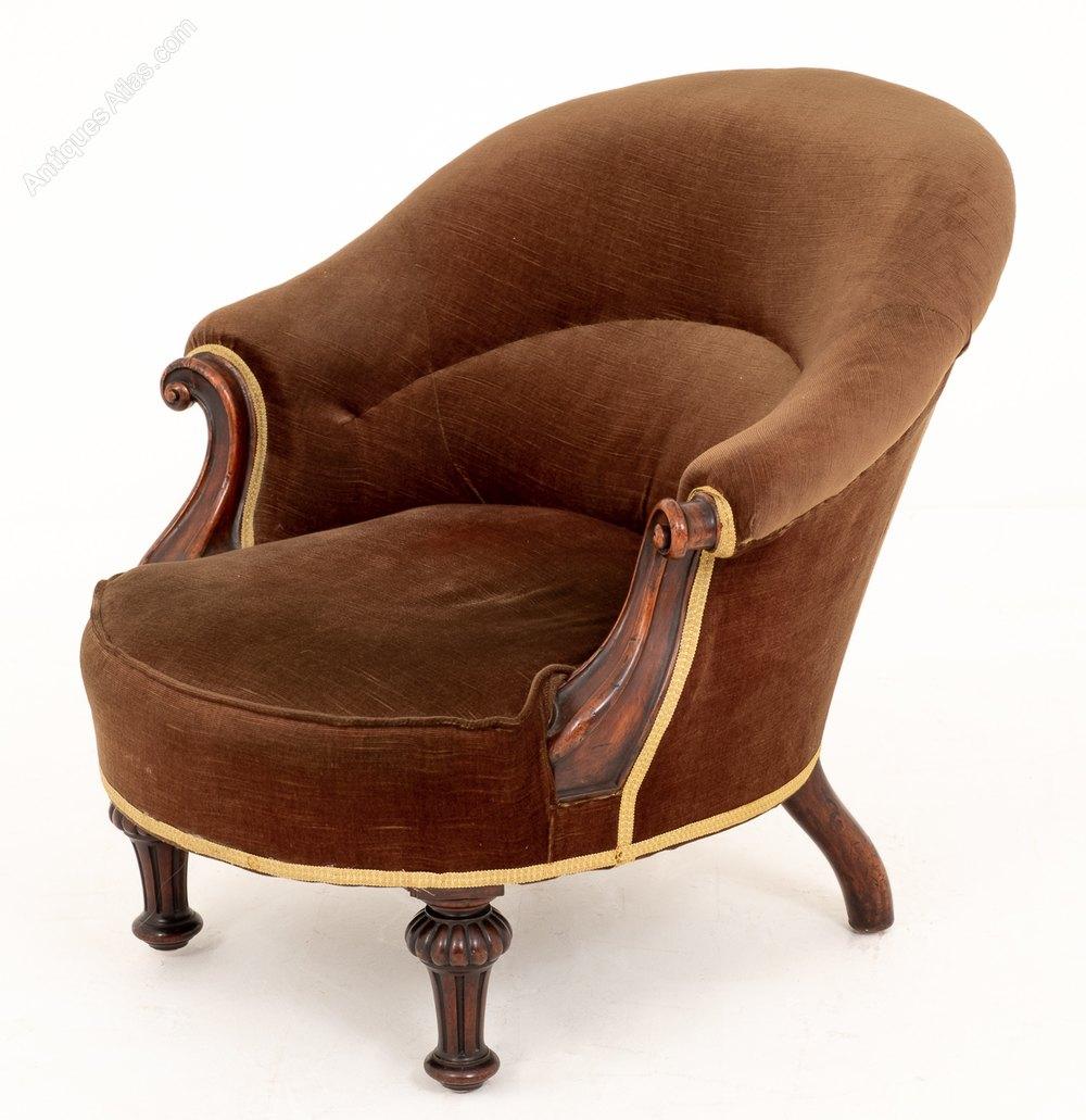 Victorian Mahogany Tub Chair - Antiques Atlas