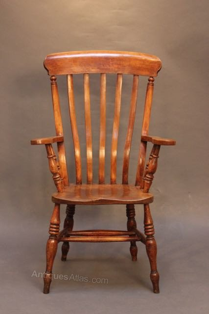 Beech Elm Country Kitchen Chair Antique Armchairs
