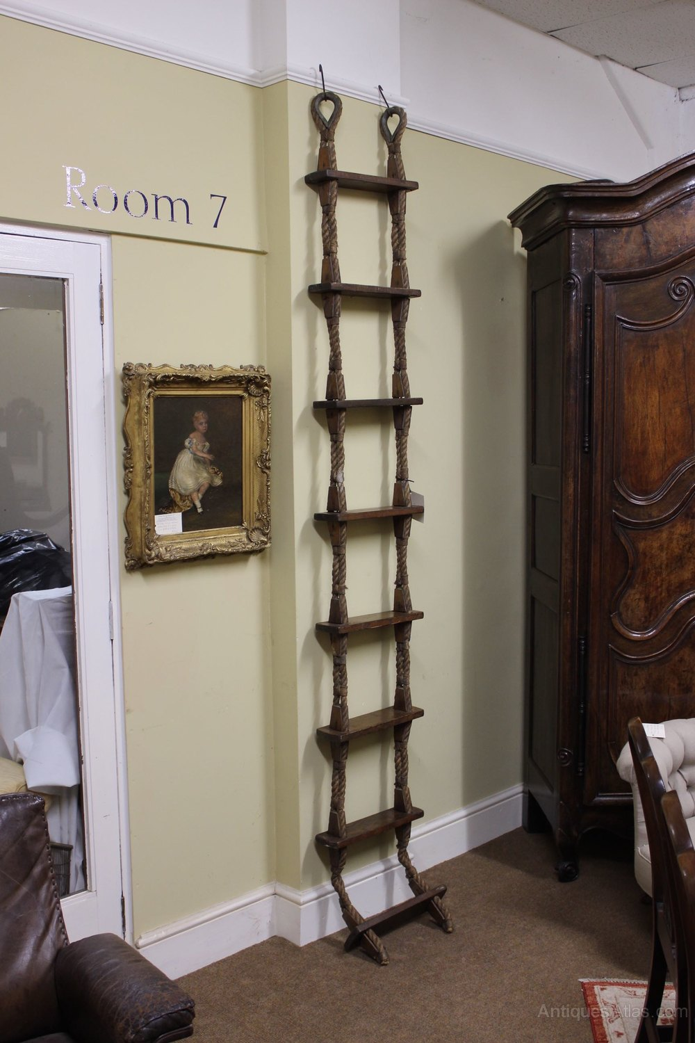 A 19thc Rope Ladder Shelf Antiques Atlas