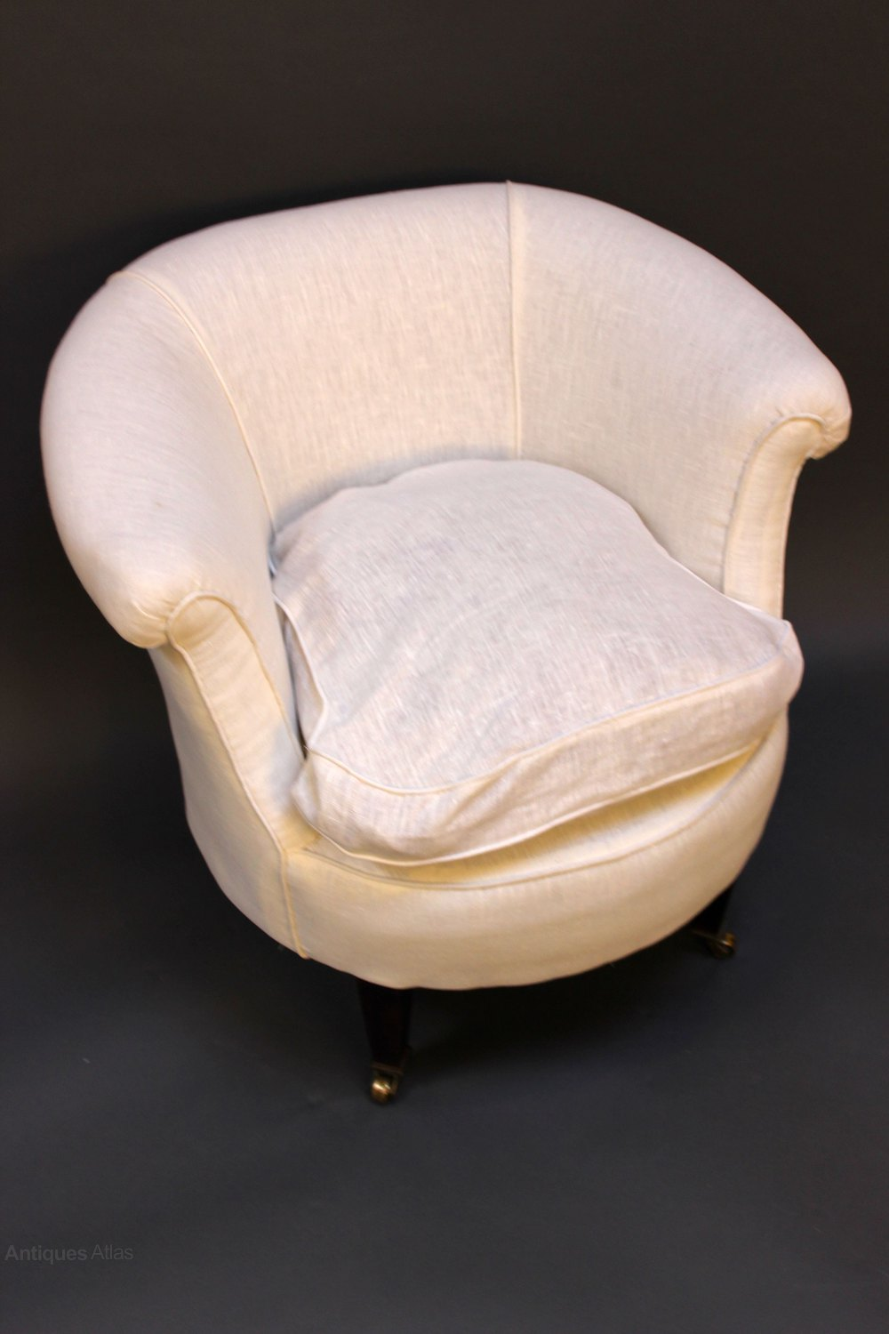A Small Late 19thc. Tub Chair - Antiques Atlas