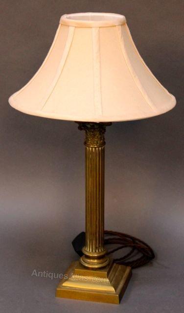 Antiques Atlas Brass Barley Twist Table Lamp
