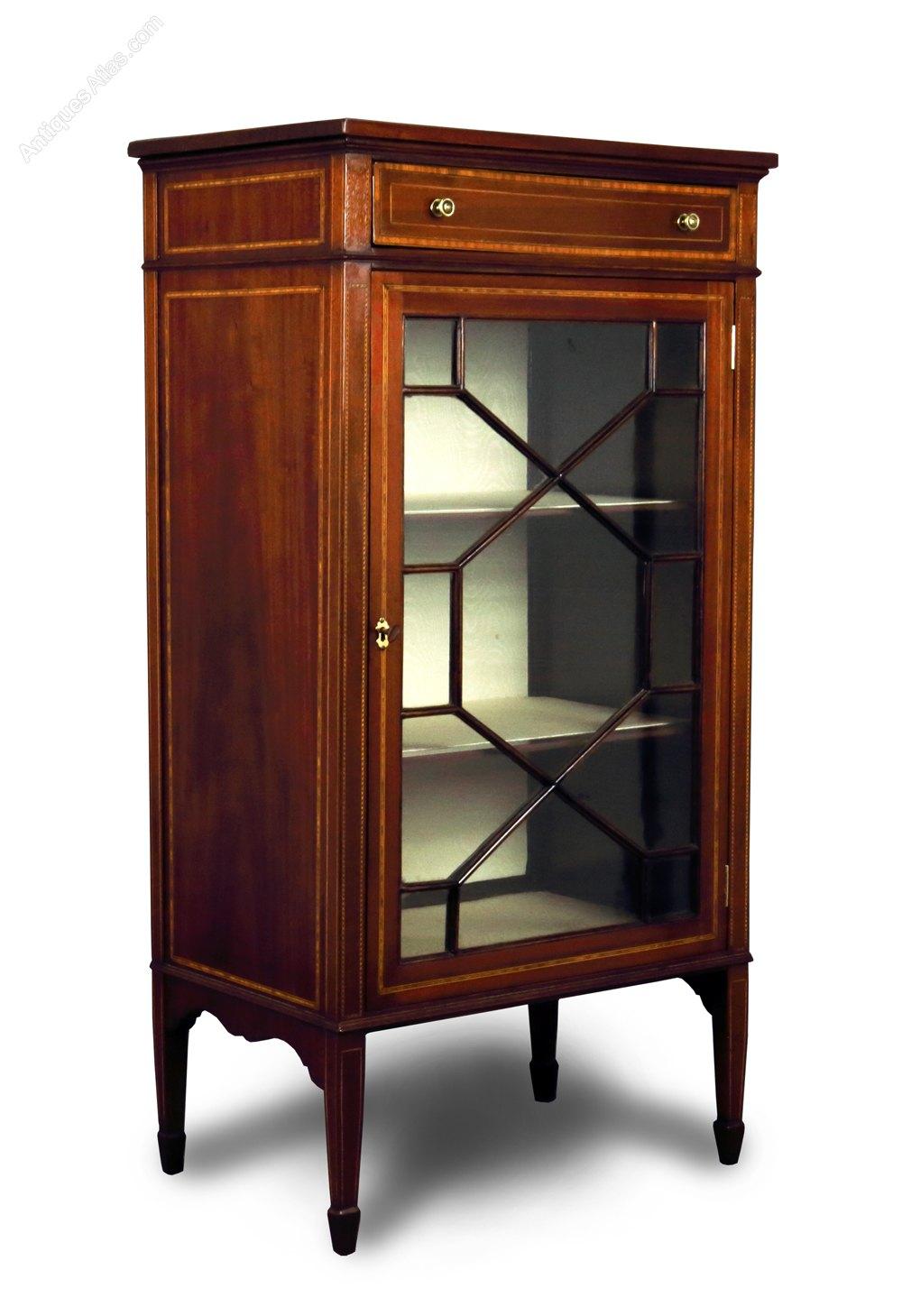 Mahogany Amp Inlaid Small Display Cabinet Antiques Atlas