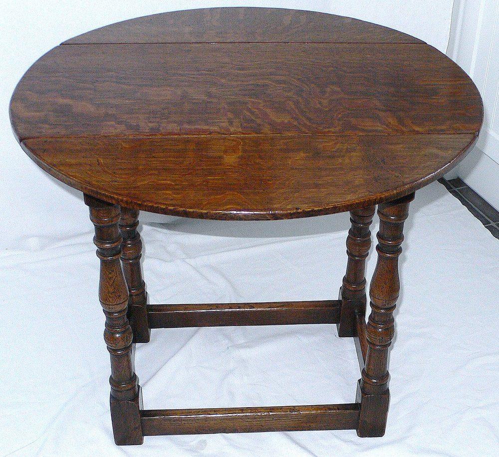 Antique Drop Leaf Table >> OAK DROP LEAF COFFEE TABLE - Antiques Atlas