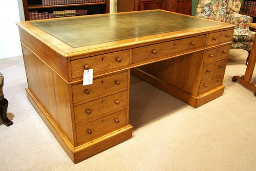 golden oak partners desk antiques atlas 87979
