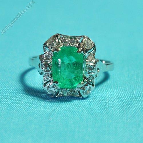 antiques atlas vintage emerald engagement ring