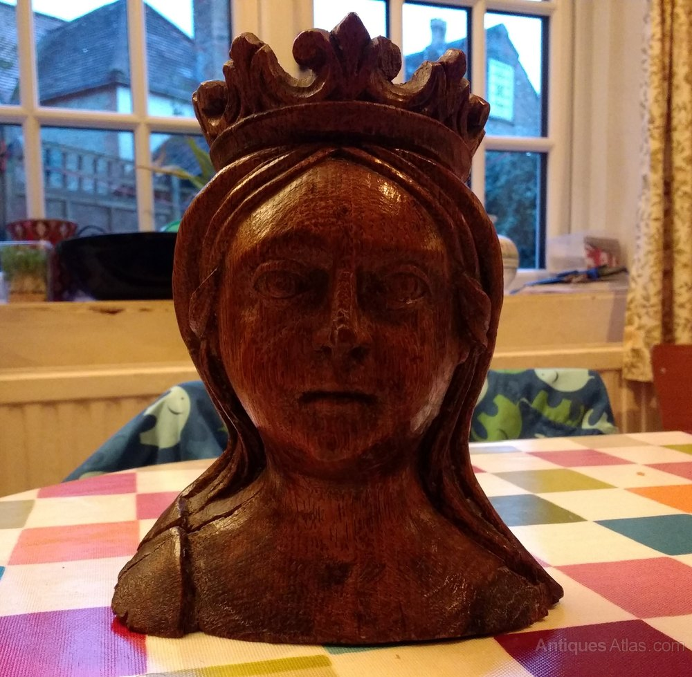 Antiques atlas early th century english carved head of
