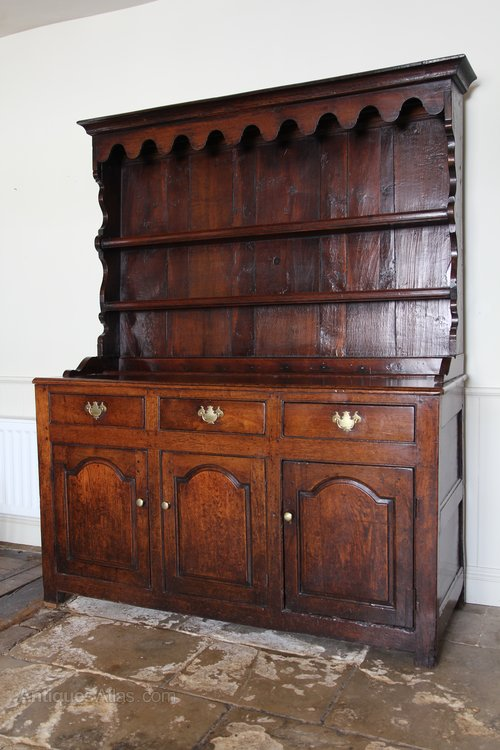 18th Century Enclosed Oak Dresser