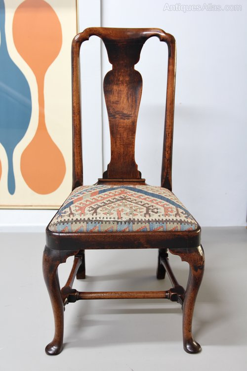 18th Century Walnut Side Chair V355