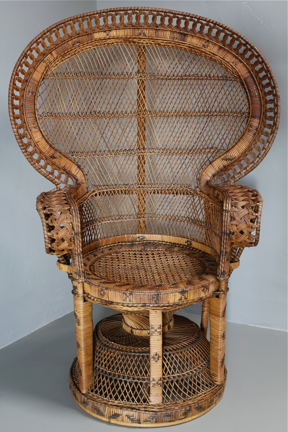 Merveilleux 1960s Rattan Peacock Chair 1960s Armchairs, Occasional Chairs ...