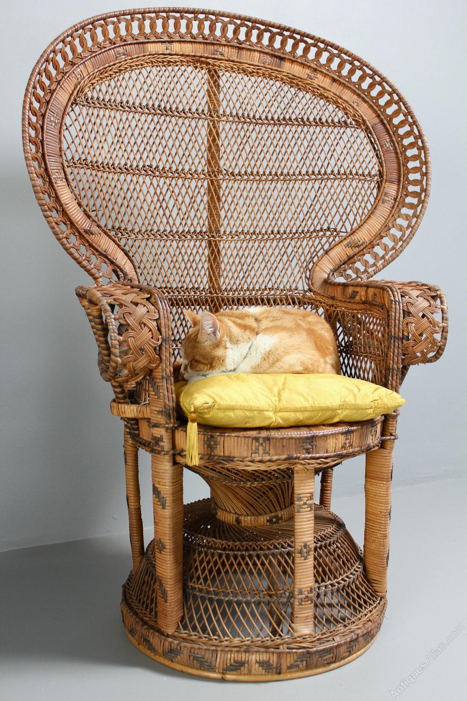 Antiques Atlas 1960 S Rattan Peacock Chair