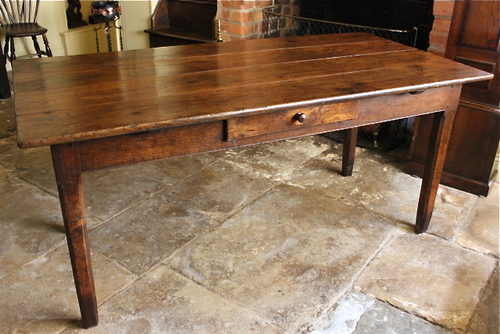19th Century Chestnut Farmhouse Table ...