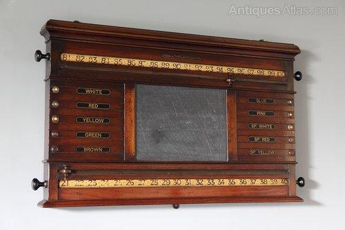 19th Century Orme & Sons Game Score Board U986
