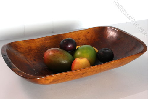 Antiques Atlas - 19th Century Wooden Trencher Dish