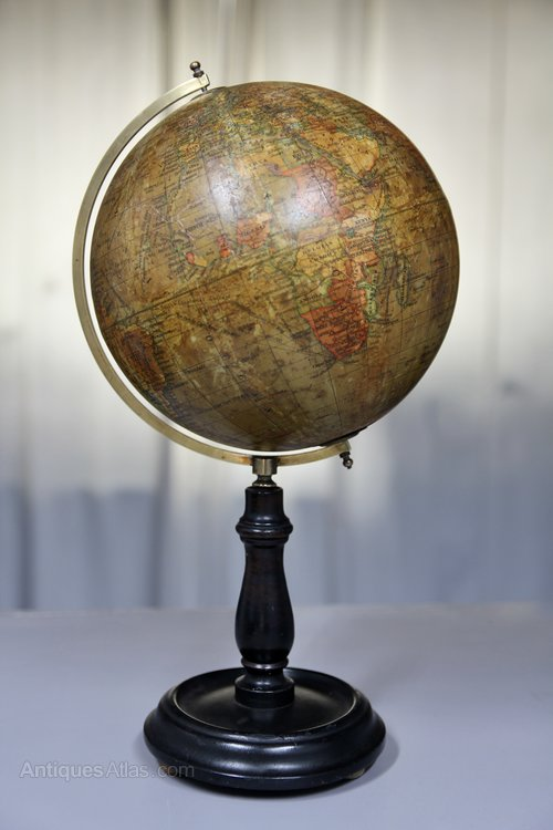 8 Inch Terrestrial Waverley Globe on Stand U357