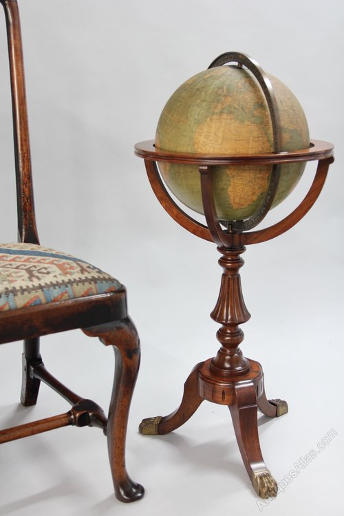 Antique Weber Costello Co. Globe on Stand V285