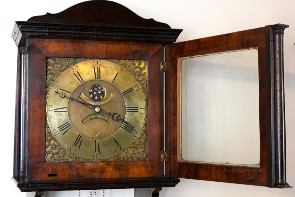 Antiques Atlas Georgian Walnut Hooded Wall Clock U160