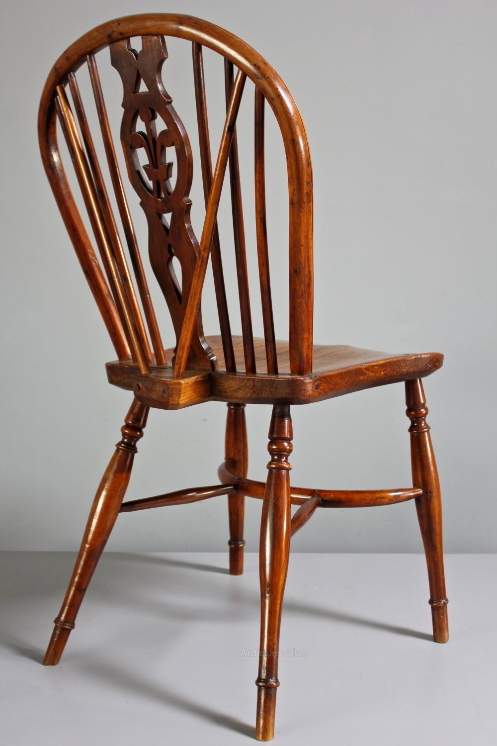 Antique Wood Chairs ~ Pair of antique yew wood windsor side chairs antiques atlas