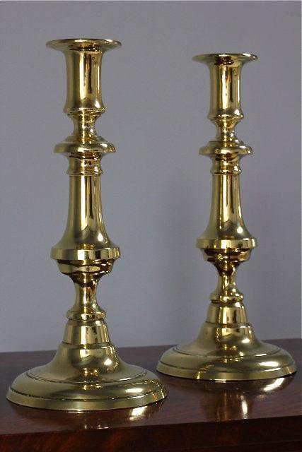 Brass Candlesticks antiques atlas - pair of victorian brass candlesticks