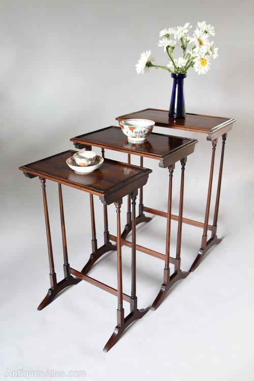 Regency Rosewood Nest of Tables V337