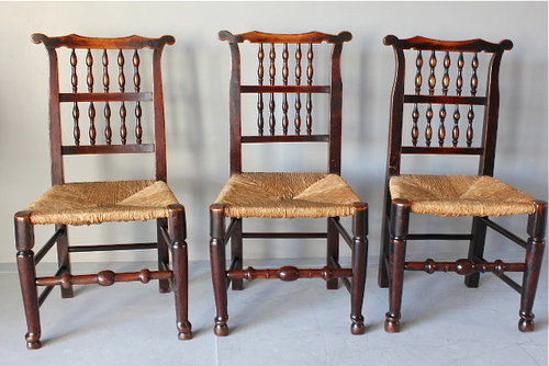 Set of 6 Antique Ear-topped Spindle Back Chairs ... - Set Of 6 Antique Ear-topped Spindle Back Chairs - Antiques Atlas