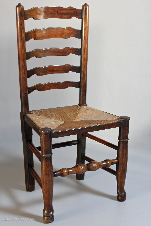 Set Of 6 Antique Ladder Back Chairs. T216 - Antiques Atlas
