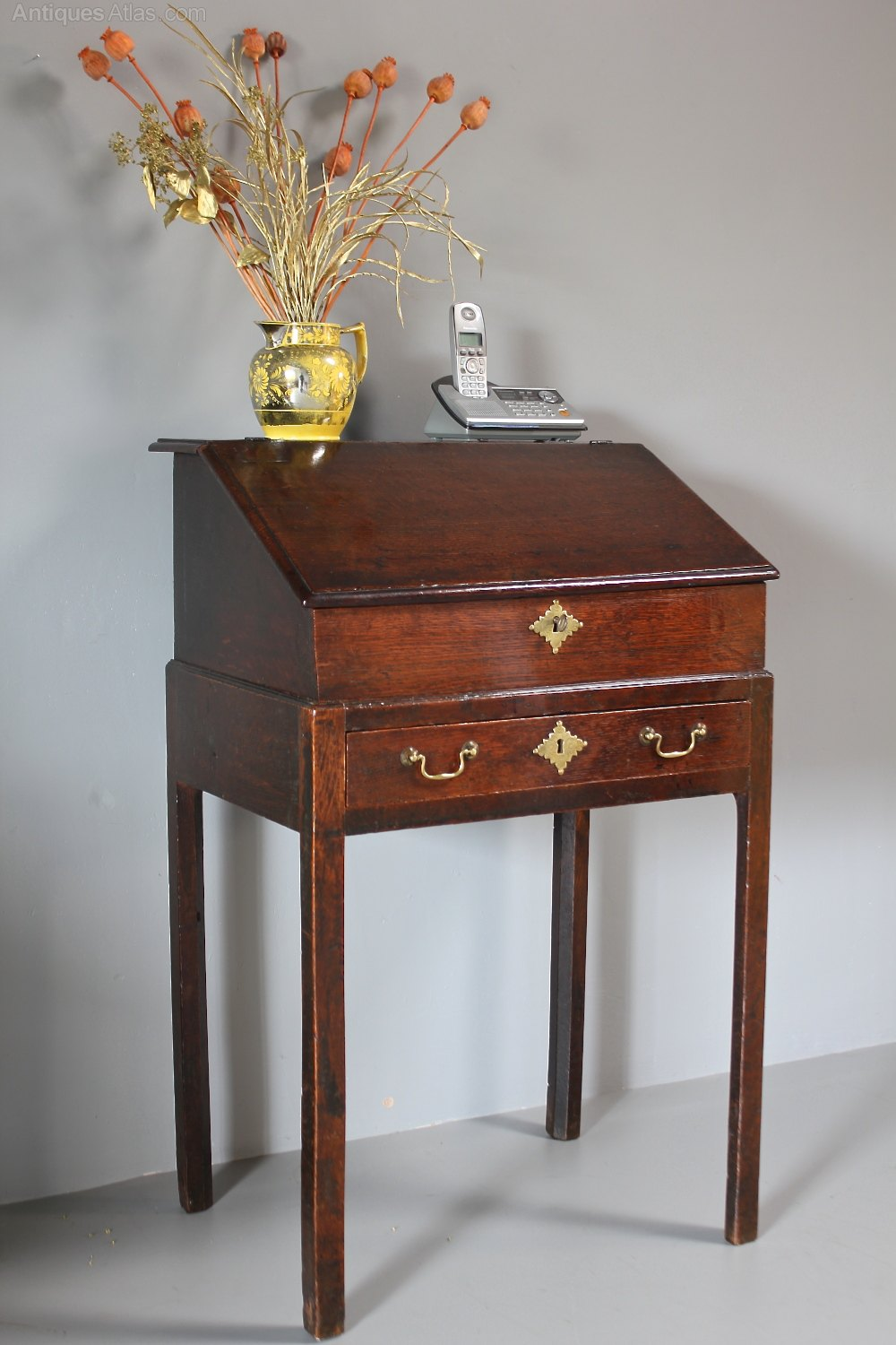 Picture of: Small 19th Century Slant Top Desk On Legs R415 Antiques Atlas