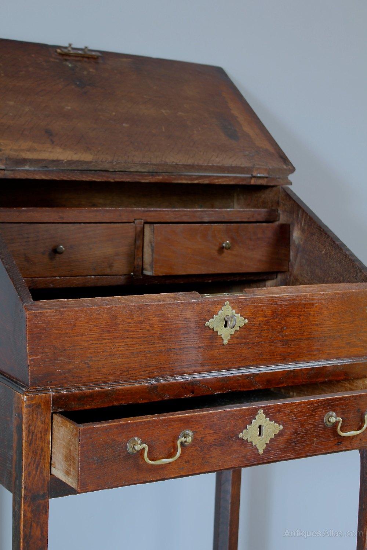 R415 Antique Desks Desk Oak 19th Century