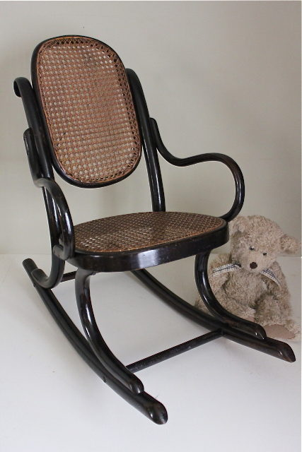 thonet ebonised bentwood child 39 s rocking chair antiques atlas. Black Bedroom Furniture Sets. Home Design Ideas