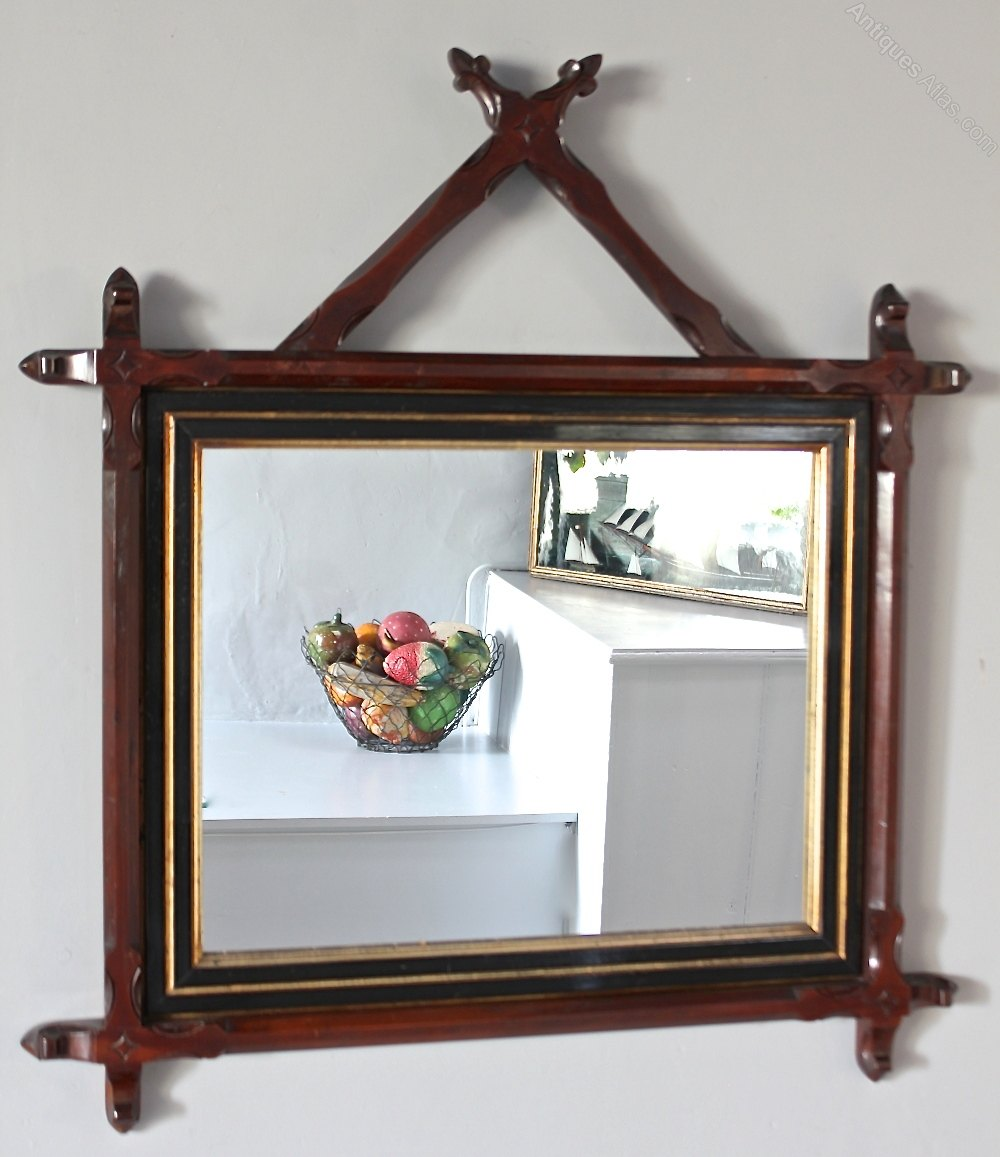 Antiques Atlas - Victorian Aesthetic Carved Frame Mirror. U172