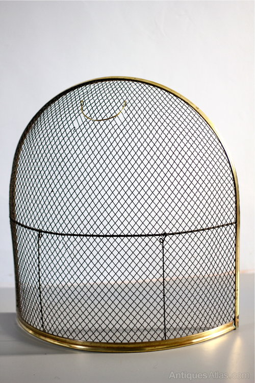 Antiques Atlas Victorian Br And Mesh Fire Guard