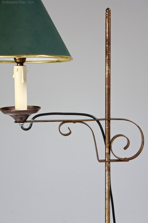 Vintage Adjustable Metal Floor Lamp. S53 Antique Floor Lamps ... Pictures Gallery