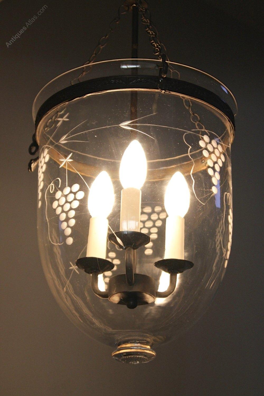 Antiques Atlas Vintage Etched Glass Ceiling Light T978